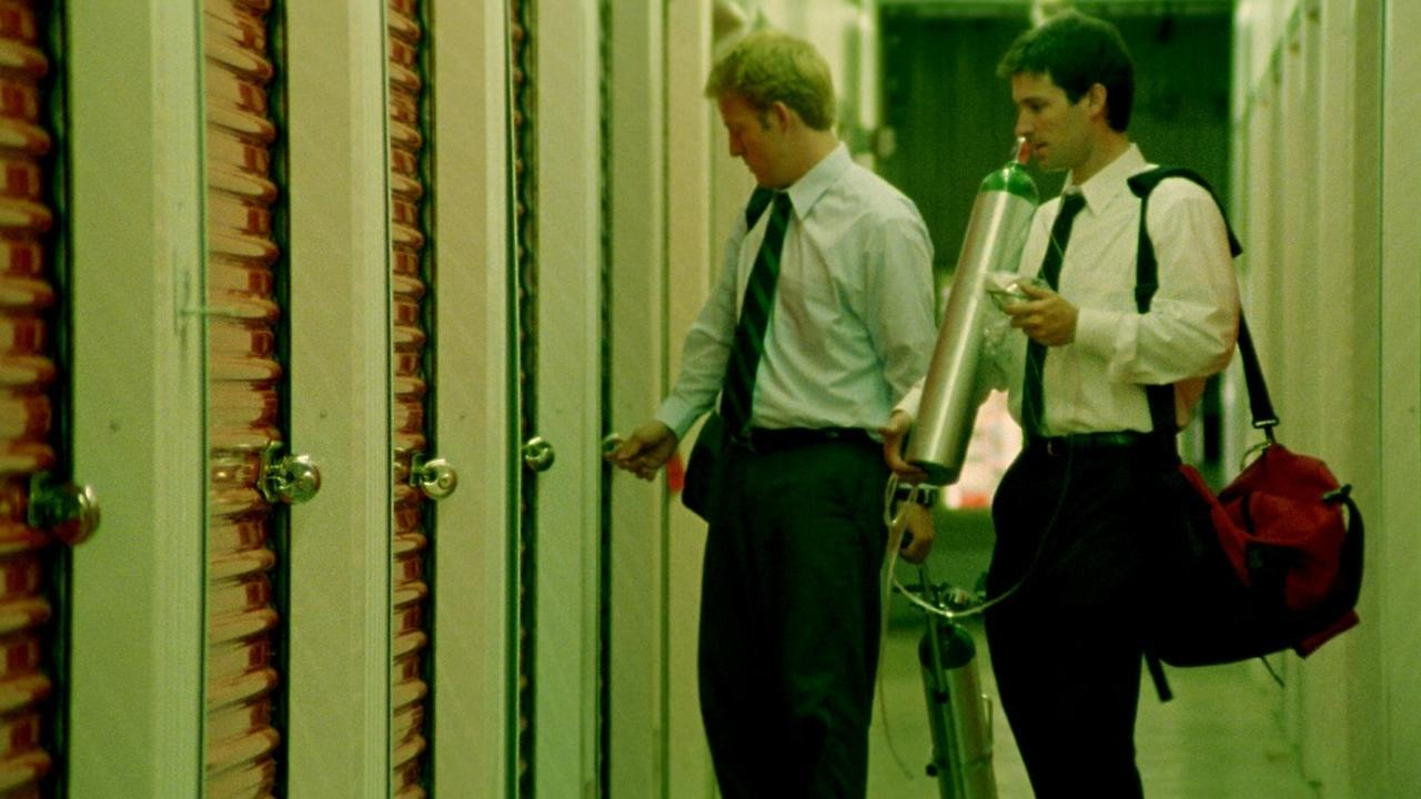 Shane Carruth and David Sullivan in 'Primer'