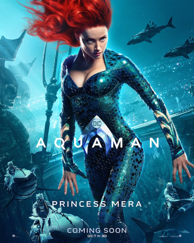 Amber Heard as Princess Mera in 'Aquaman'
