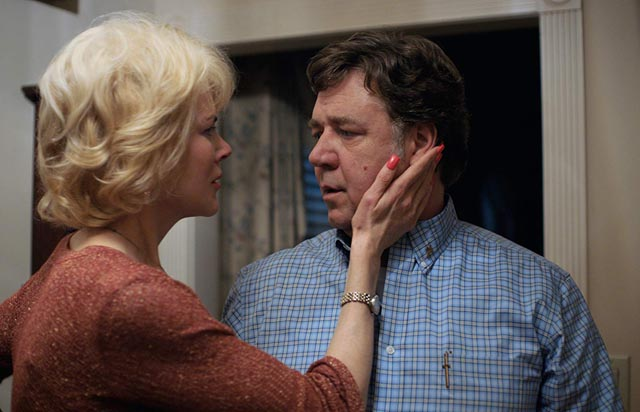 Nicole Kidman and Russell Crowe in a still from Boy Erased