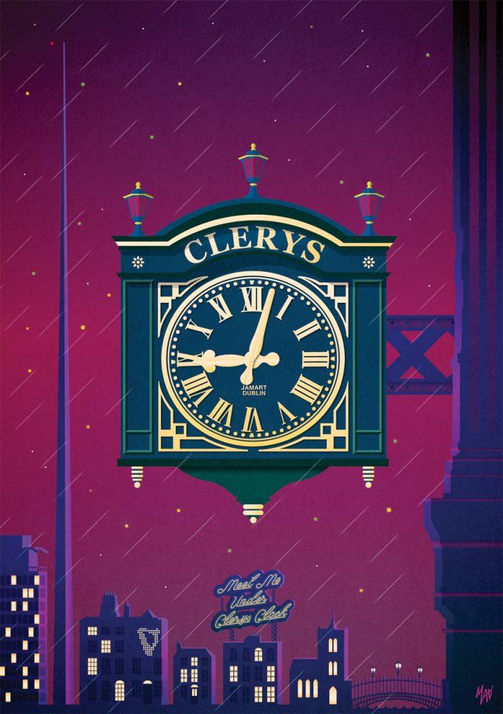 Clery Clock print Maxi Dublin