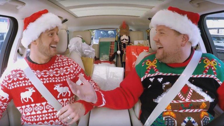 Christmas carpool karaoke Michael Buble James Corden