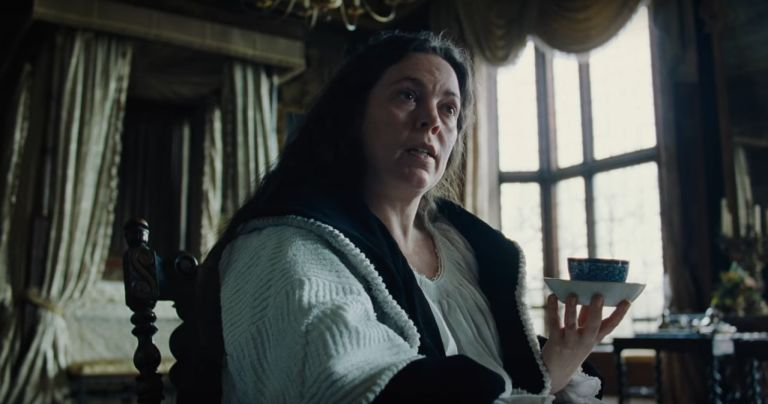 Olivia Colman as Queen Anne in 'The Favourite'