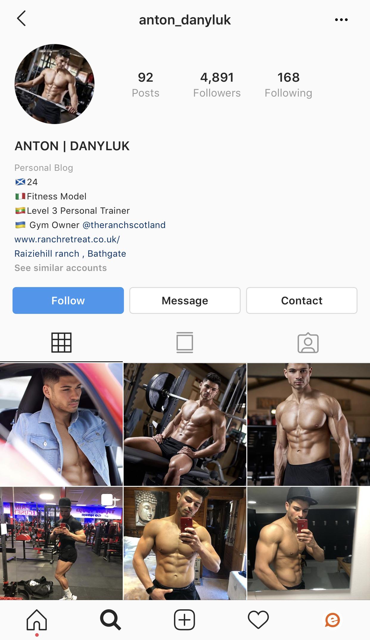 Anton Love Island 2019 Instagram