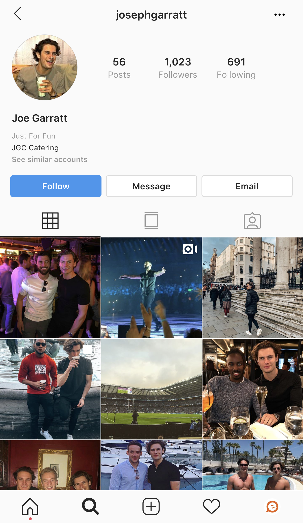 Joe Love Island 2019 Instagram