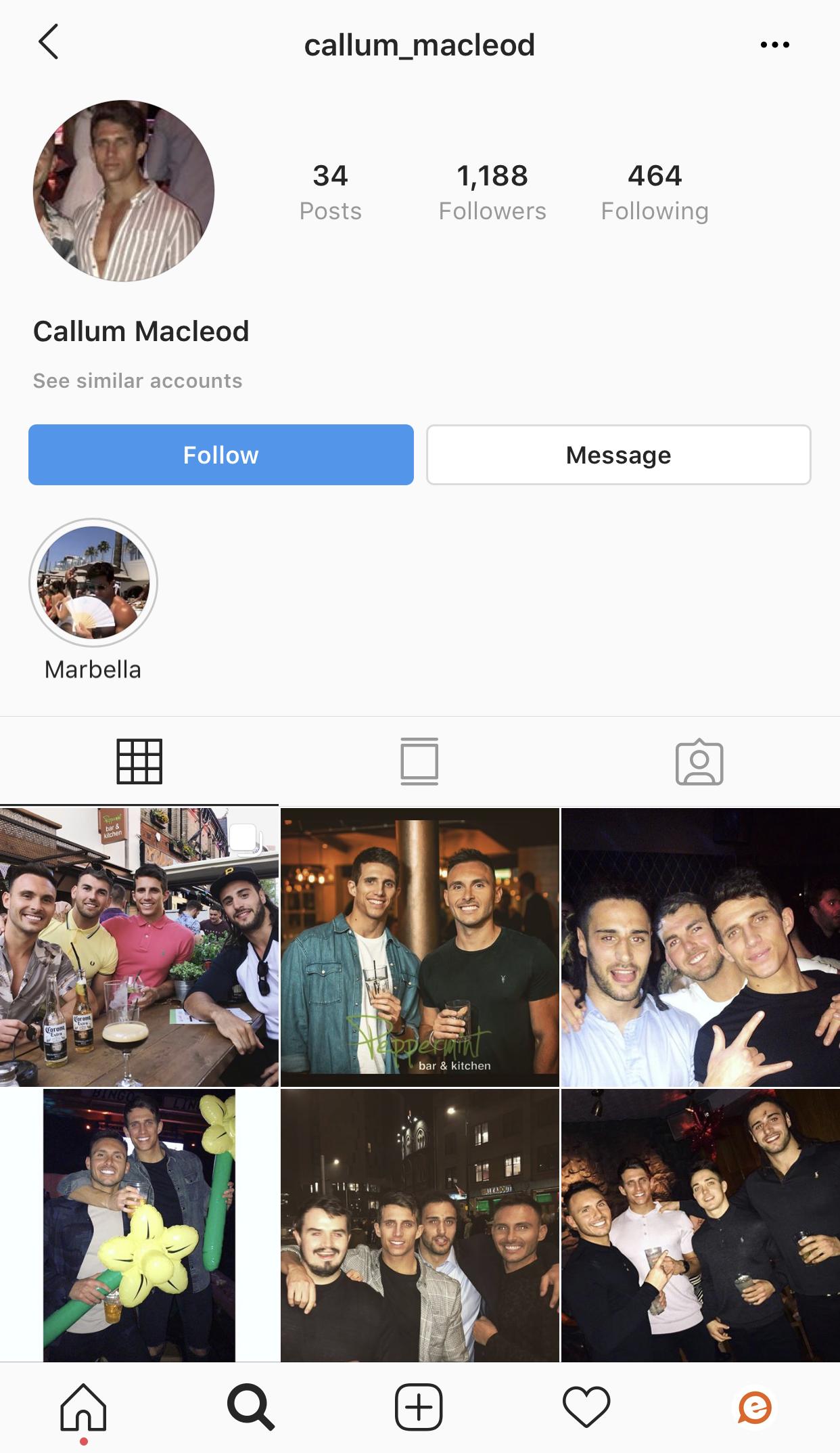 Callum Love Island 2019 Instagram