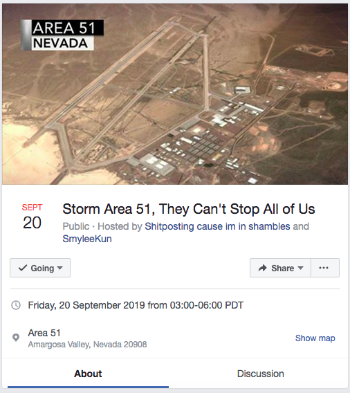 400K people join Facebook group to 'storm Area 51'