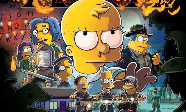 Simpsons Treehouse of Horror XXX Stranger Things