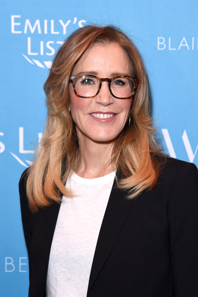 LOS ANGELES, CALIFORNIA - FEBRUARY 19: Felicity Huffman attends Raising Our Voices: Supporting More Women in Hollywood & Politics at Four Seasons Hotel Los Angeles in Beverly Hills on February 19, 2019 in Los Angeles, California. (Photo by Presley Ann/Getty Images for EMILY'S List)