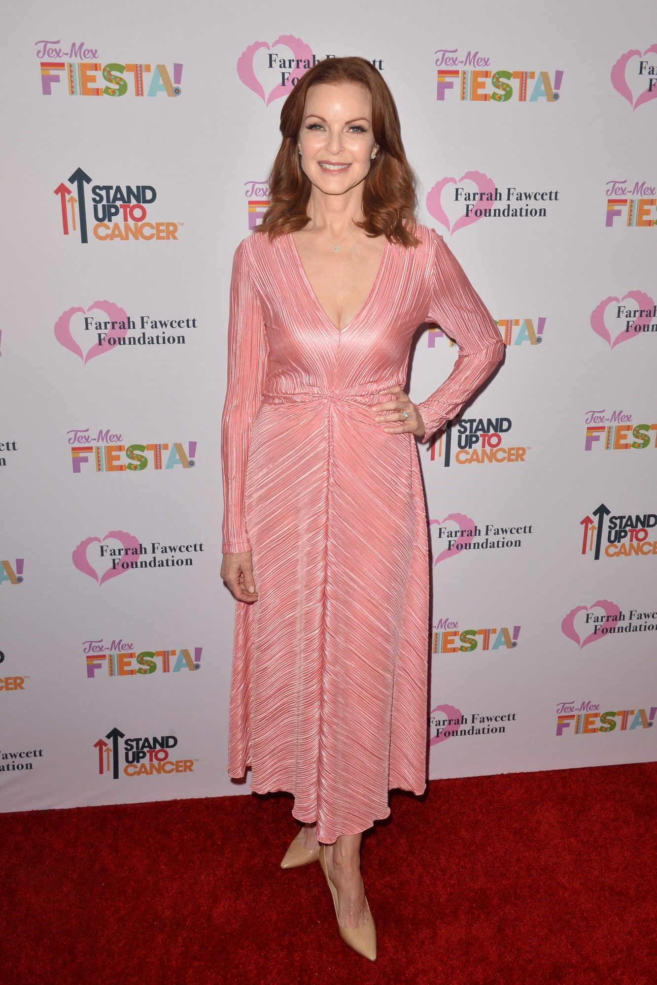 BEVERLY HILLS, CALIFORNIA - SEPTEMBER 06: Marcia Cross arrives at The Farrah Fawcett Foundation's Tex-Mex Fiesta at Wallis Annenberg Center for the Performing Arts on September 06, 2019 in Beverly Hills, California. (Photo by Jerod Harris/Getty Images)