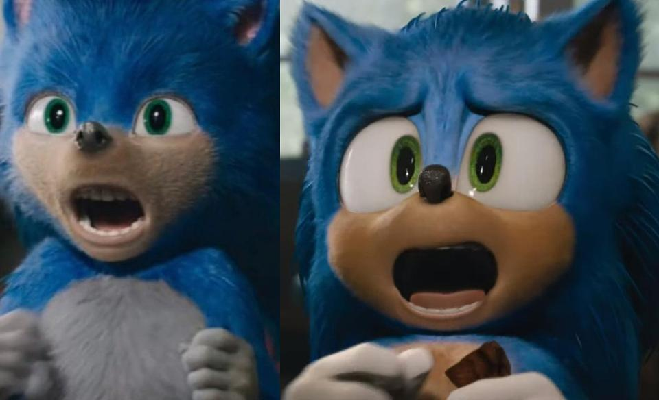 Sonic the Hedgehog before after