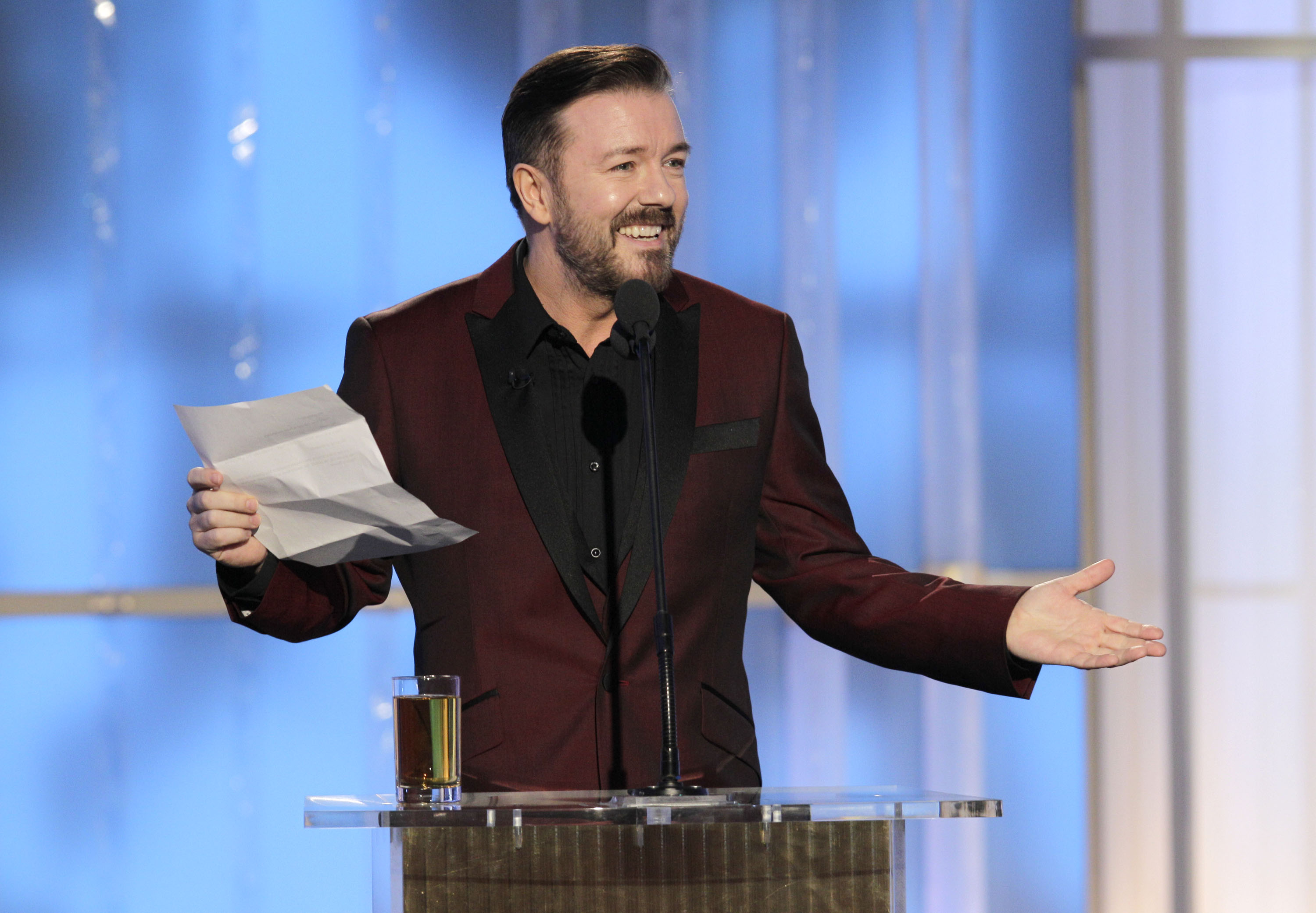 Golden Globes: Ricky Gervais to host fifth time