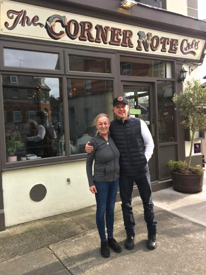Matt Damon in Dublin
