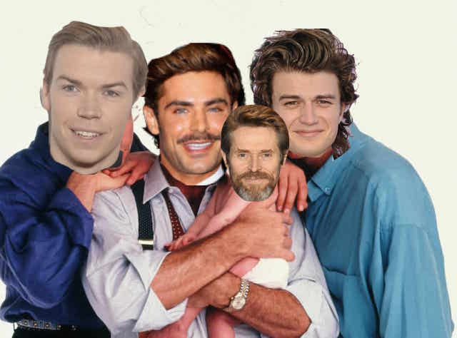 Enjoy this potentially cursed artist rendition of what our dream cast for the 'Three Men And A Baby' remake