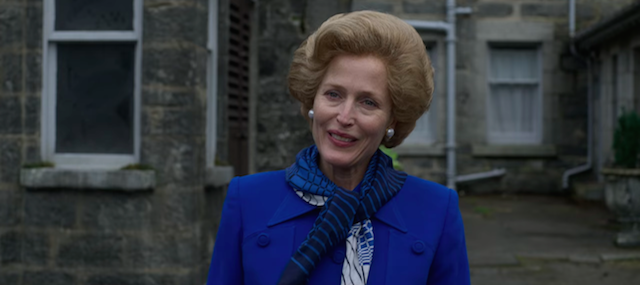 Gillian Anderson as Margaret Thatcher / Credit: Netflix