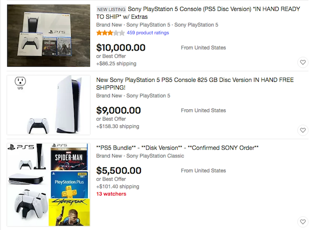 PS5, Scalping